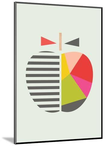 Geometric Apple-Little Design Haus-Mounted Giclee Print