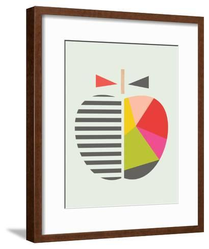 geometric apple giclee print by little design haus. Black Bedroom Furniture Sets. Home Design Ideas