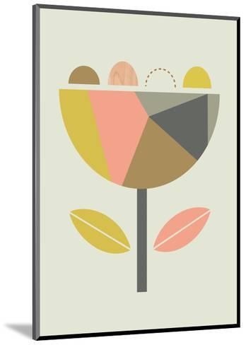 Scandi Flower-Little Design Haus-Mounted Giclee Print