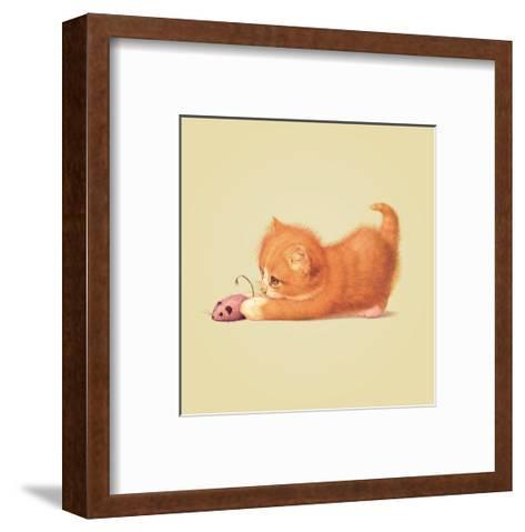 Cat-John Butler Art-Framed Art Print