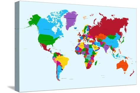 World map colorful countries art print by cienpies the new art world map colorful countries cienpies stretched canvas print gumiabroncs Images