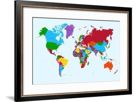 World map colorful countries art print by cienpies art world map colorful countries cienpies framed art print gumiabroncs Image collections