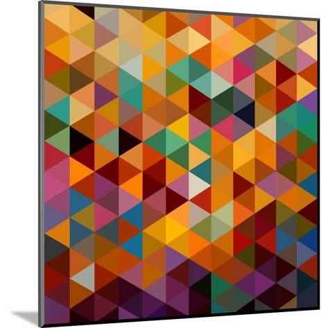 Geometric Triangle Pattern-cienpies-Mounted Art Print