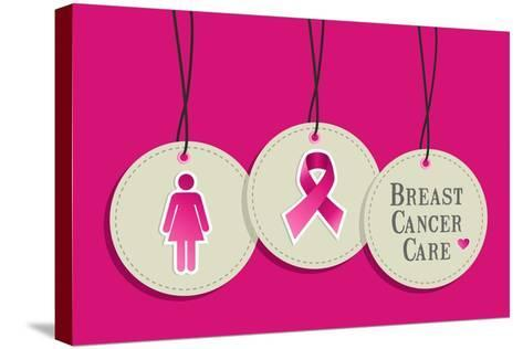 Breast Cancer Care-cienpies-Stretched Canvas Print