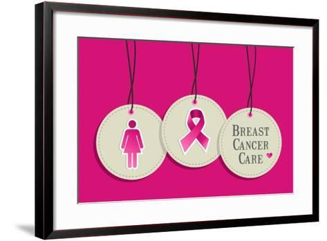 Breast Cancer Care-cienpies-Framed Art Print
