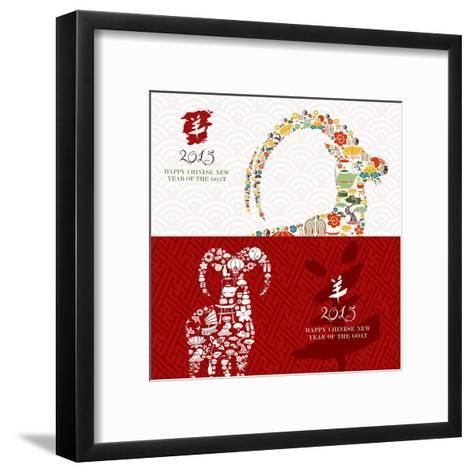 Year of the Goat - 2015 Icons-cienpies-Framed Art Print