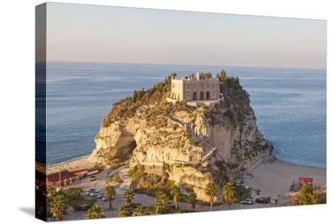 Santa Maria Del Isola Monastery, Tropea, Calabria-Peter Adams-Stretched Canvas Print