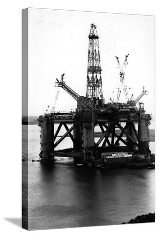 Oil Rigs-Colin Davey-Stretched Canvas Print