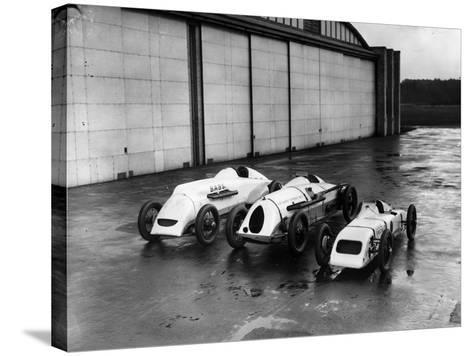 Record Bid Cars-E. Bacon-Stretched Canvas Print