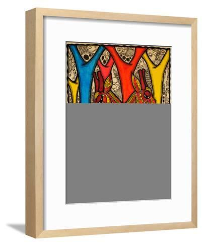 Lovers, 2013-Muktair Oladoja-Framed Art Print