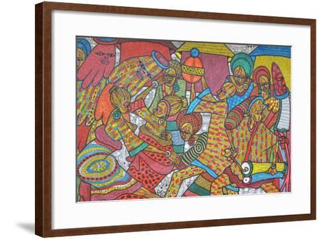 Festival, 2014-Muktair Oladoja-Framed Art Print