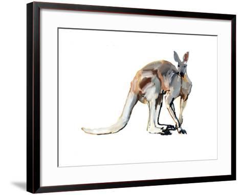 Roo, (Red Kangaroo), 2012-Mark Adlington-Framed Art Print