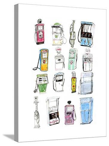 Petrol Pumps-Pat Macdonald-Stretched Canvas Print