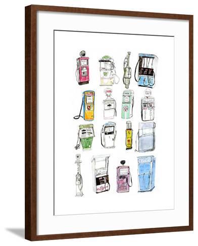 Petrol Pumps-Pat Macdonald-Framed Art Print