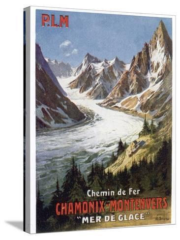 Affiche du PLM Chamonix Haute-Savoie--Stretched Canvas Print