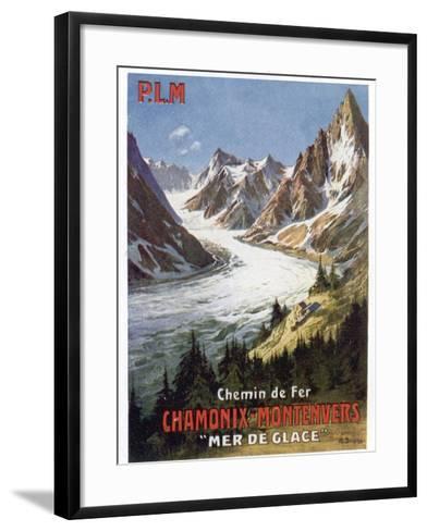 Affiche du PLM Chamonix Haute-Savoie--Framed Art Print