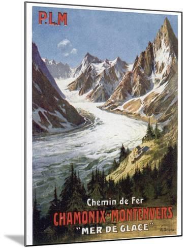 Affiche du PLM Chamonix Haute-Savoie--Mounted Giclee Print