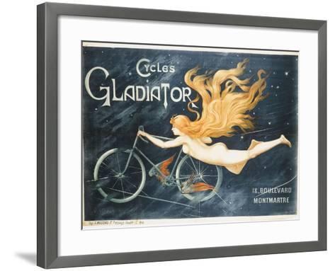 Advertising Poster for Gladiator Bicycles--Framed Art Print
