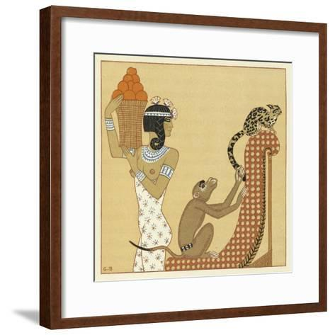 The Romance of a Mummy-Georges Barbier-Framed Art Print