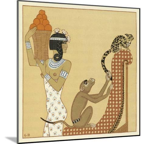 The Romance of a Mummy-Georges Barbier-Mounted Giclee Print