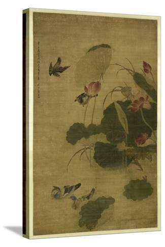 Birds and Flowers-Jiang Tingxi-Stretched Canvas Print
