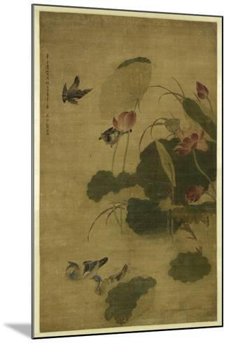Birds and Flowers-Jiang Tingxi-Mounted Giclee Print