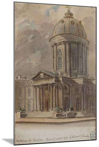 Parisian Fountains-Jean-Marie Amelin-Mounted Giclee Print