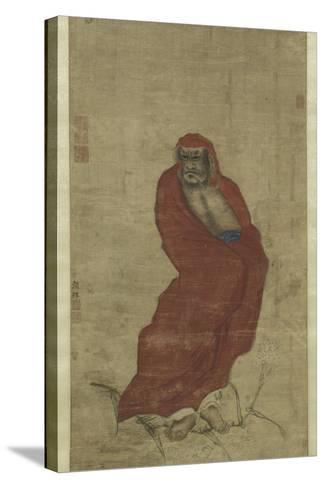 Bodhidharma Crossing the Yangzi-Hui Yan-Stretched Canvas Print