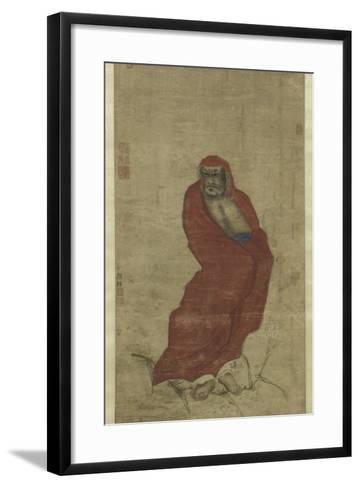 Bodhidharma Crossing the Yangzi-Hui Yan-Framed Art Print