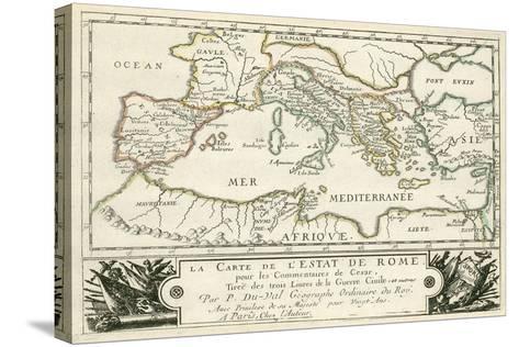 Carte de l'Empire romain de Jules Cesar-Julius Caesar-Stretched Canvas Print