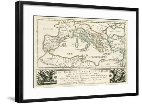 Carte de l'Empire romain de Jules Cesar-Julius Caesar-Framed Art Print