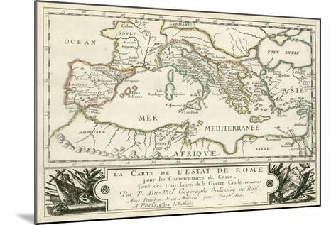 Carte de l'Empire romain de Jules Cesar-Julius Caesar-Mounted Giclee Print