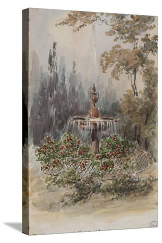 Parisian Fountains-Jean-Marie Amelin-Stretched Canvas Print
