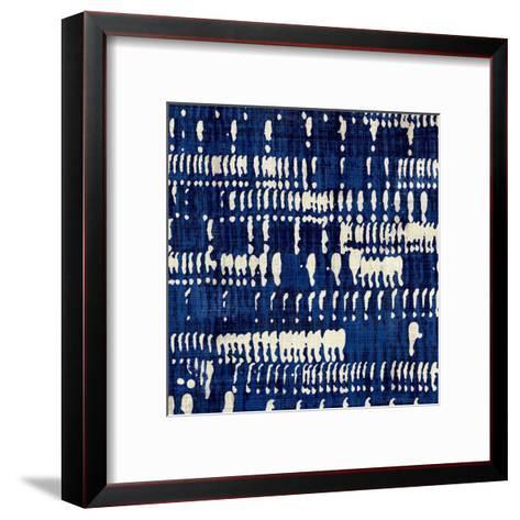 Indigo Batik IV-Hugo Wild-Framed Art Print