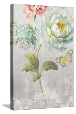 Textile Floral Panel I-Danhui Nai-Stretched Canvas Print