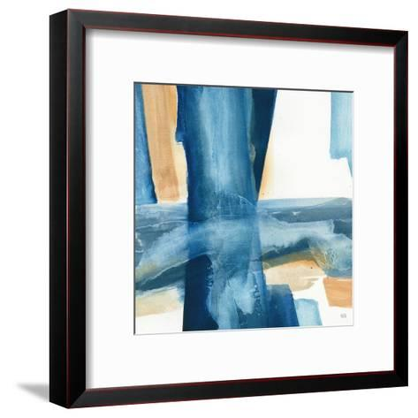 Indigo V-Chris Paschke-Framed Art Print