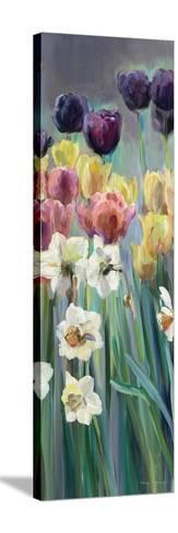 Grape Tulips Panel I-Marilyn Hageman-Stretched Canvas Print