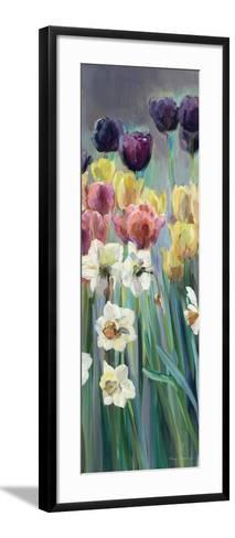 Grape Tulips Panel I-Marilyn Hageman-Framed Art Print