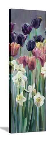 Grape Tulips Panel II-Marilyn Hageman-Stretched Canvas Print