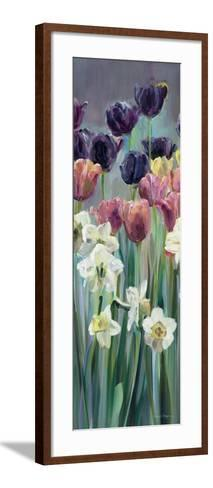 Grape Tulips Panel II-Marilyn Hageman-Framed Art Print