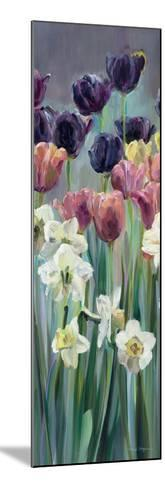 Grape Tulips Panel II-Marilyn Hageman-Mounted Art Print