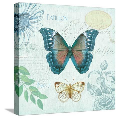 Butterflies and Botanicals 1-Christopher James-Stretched Canvas Print