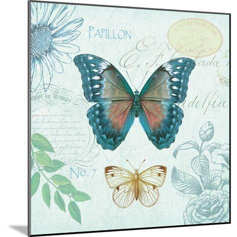 Butterflies and Botanicals 1-Christopher James-Mounted Premium Giclee Print