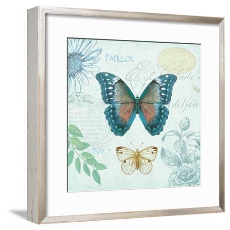 Butterflies and Botanicals 1-Christopher James-Framed Art Print