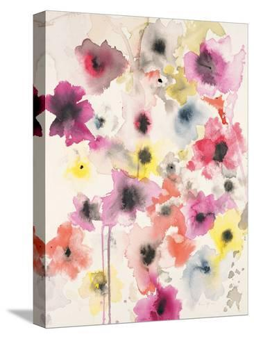 Candy Wrapped Blooms-Karin Johannesson-Stretched Canvas Print