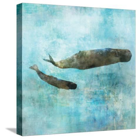 Ocean Whale 2-Ken Roko-Stretched Canvas Print