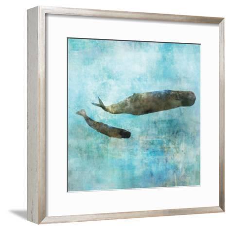 Ocean Whale 2-Ken Roko-Framed Art Print