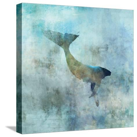 Ocean Whale 3-Ken Roko-Stretched Canvas Print