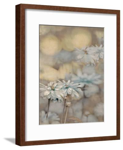 Golden Summer Daisies-Matina Theodosiou-Framed Art Print