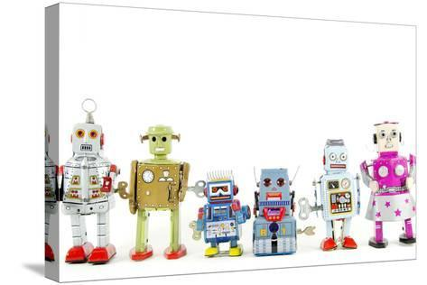 A Team of Robot Toys-davinci-Stretched Canvas Print